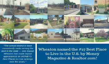 Wheaton ranked #27 best place to live in the US!