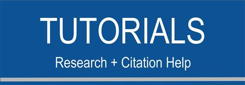 Tutorials: Research & Citation Help button