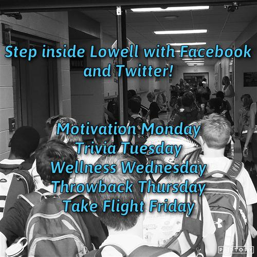 Step inside Lowell with Facebook and Twitter!