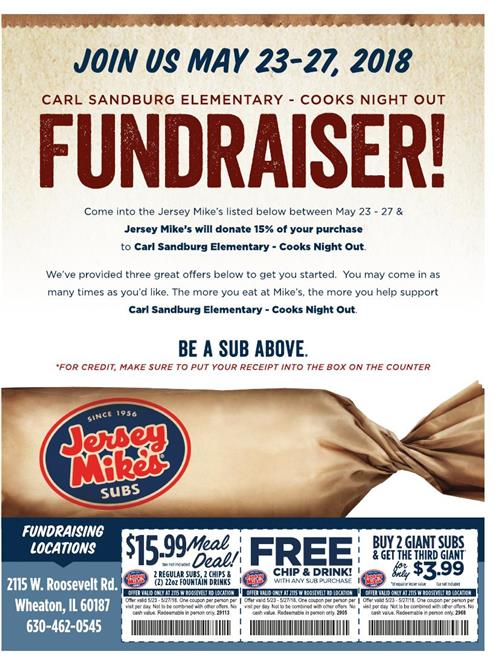 Cooks Night! - Jersey Mikes