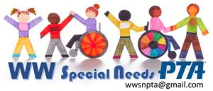 Wheaton Warrenville Special Needs PTA Logo with inclusive children