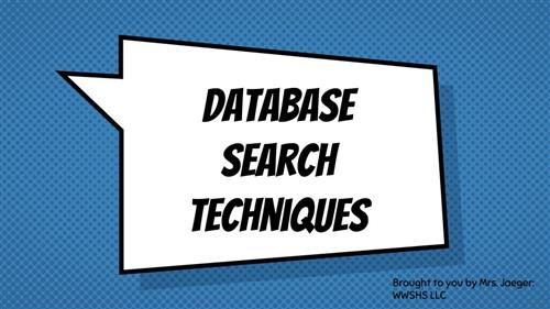 database search techniques