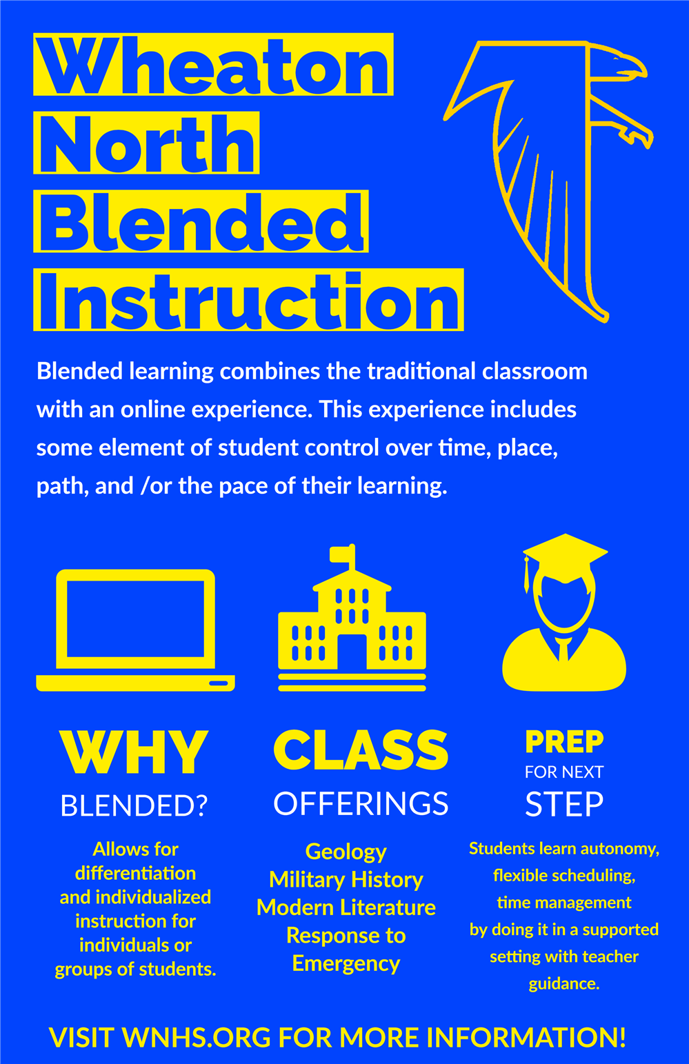 Blended learning infographic.