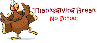Thanksgiving Recess is November 19-23